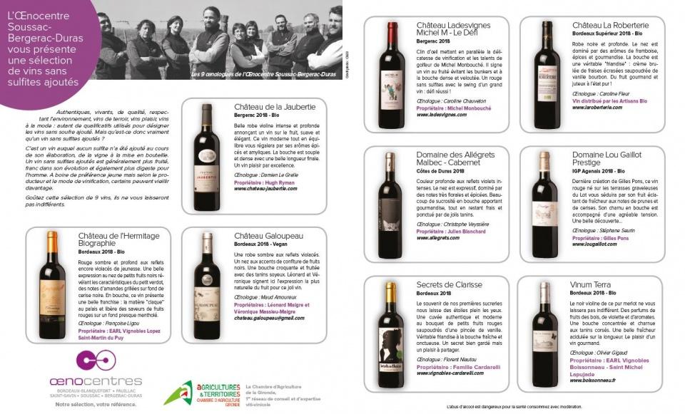 terre de vins - juillet 2019 - vins sans soufre - soussac